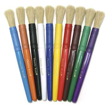 Colossal Brushes, Set Of 10 Assorted Colors By Chenille Kraft