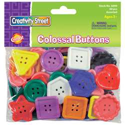Colossal Buttons 60 Pcs By Chenille Kraft