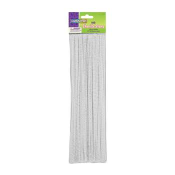 Chenille Stems White 12 Inch By Chenille Kraft