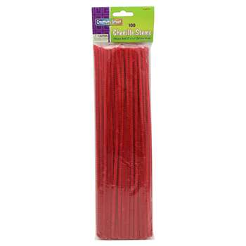 Chenille Stems Red 12 Inch By Chenille Kraft