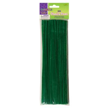 Chenille Stems Green 12 Inch By Chenille Kraft