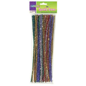 Chenille Stems Assorted 12 Sparkle By Chenille Kraft