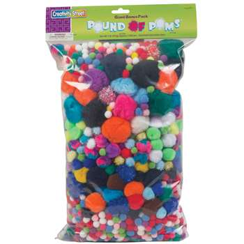 Pom Pons Assorted 1 Lb. Bag By Chenille Kraft