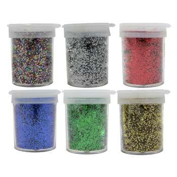 Glitter 6 3/4 Oz Jars Plain Box By Chenille Kraft