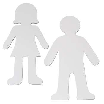 Whiteboard People Shapes 10/Set By Chenille Kraft