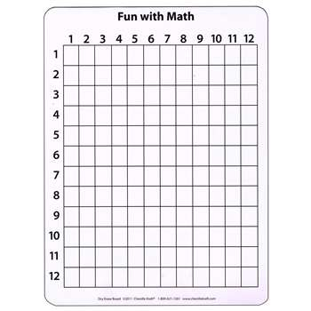 Math Whiteboard 9 X 12 10 Pk By Chenille Kraft