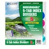 C Line Biodegradable 5 Tab Poly Index Dividers By C-Line