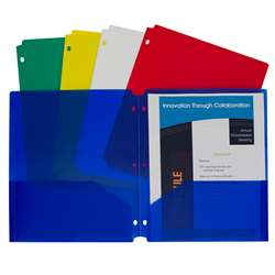2 Pocket Poly Portfolios 10 Pack, CLI32930