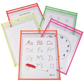 Reusable Dry Erase Pockets 10/Pk By C-Line
