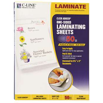 C Line Cleer Adheer 50Box Laminating Sheets By C-Line
