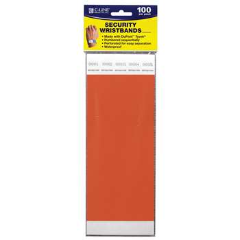 Security Wristbands Orange, CLI89102