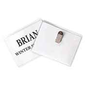 Clip Style Name Badge Holder Kit White 11x8-1/2, CLI95543