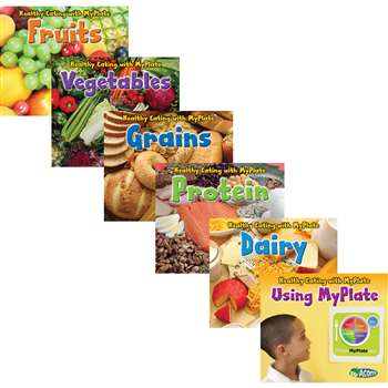 Healthy Eating With Myplate Book Set Of 6 By Coughlan Publishing Capstone Publishing