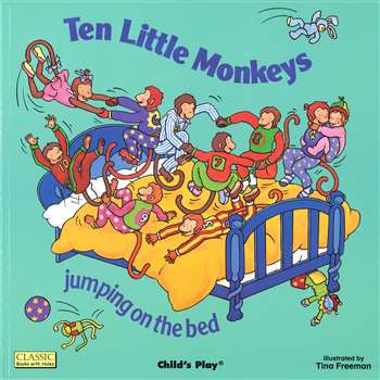 Classic Books-W-Holes Ten Little Monkeys By Childs Play Books