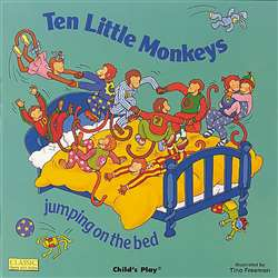 Ten Little Monkeys Jumping On The Bed Big Book By Childs Play Books