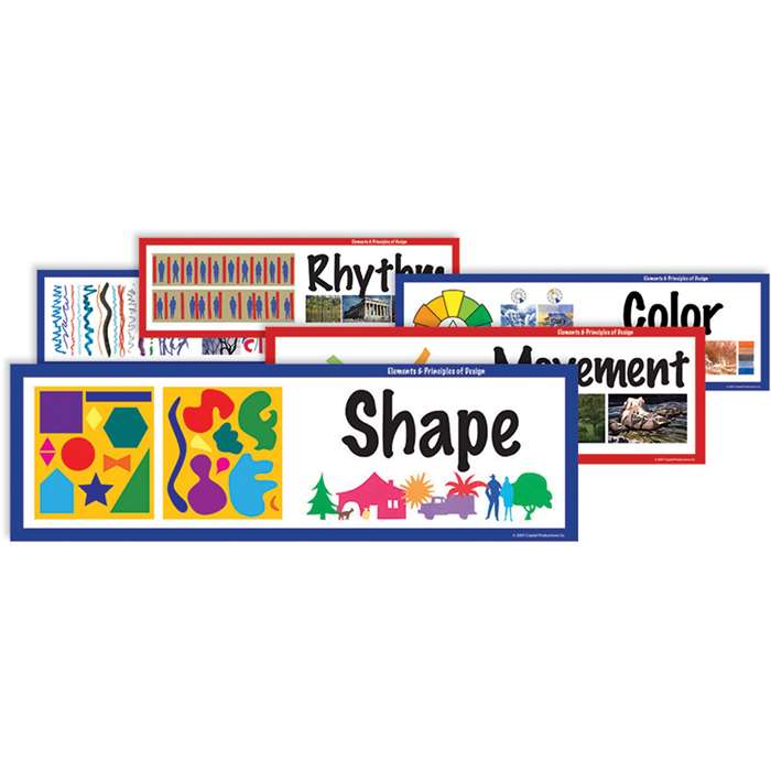 Elements Of Art Display Cards By Crystal Productions