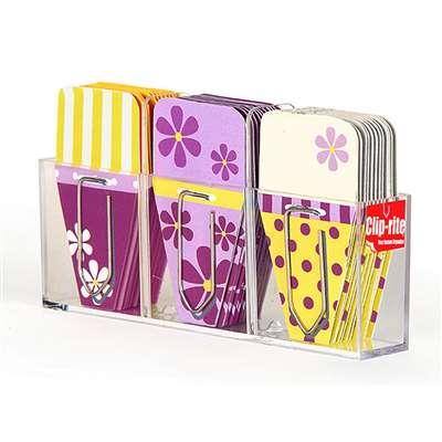 Small Daisy Clip Tabs Purple Yellow - Crt071 By Clip-Rite