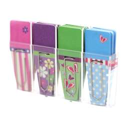 Shop Spring Clip Flags Pink Purple Green Blue - Crt137 By Clip-Rite