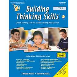 Building Thinking Skills Level 2 By Critical Thinking Press