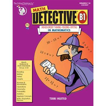 Math Detective Book B1 Gr 7-12 By Critical Thinking Press