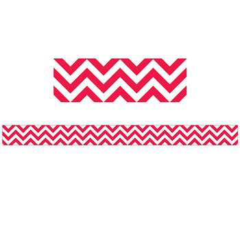 Poppy Red Chevron Border By Creative Teaching Press