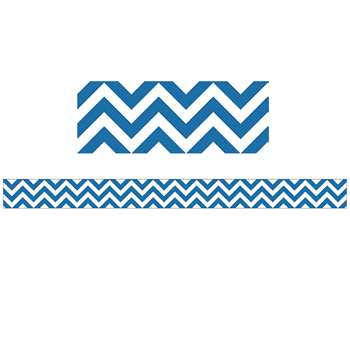 Blue Chevron Border By Creative Teaching Press