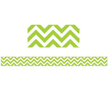 Lime Green Chevron Border By Creative Teaching Press