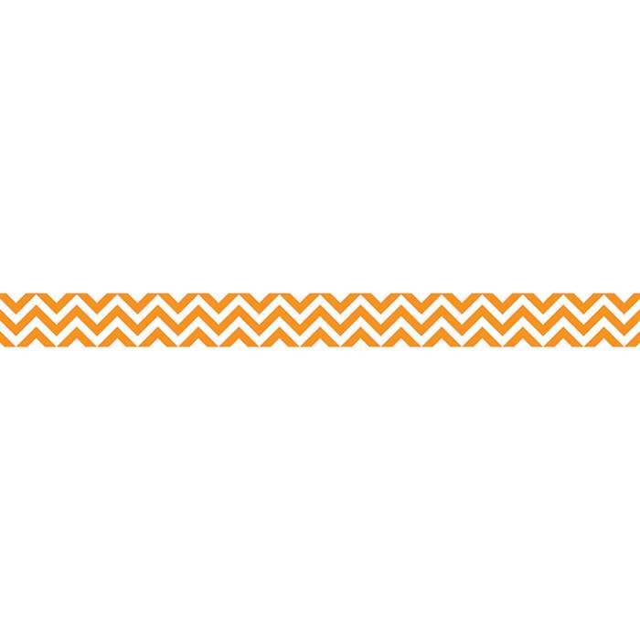 Orange Chevron Border By Creative Teaching Press