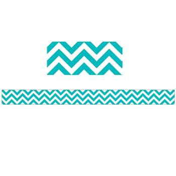 Turquoise Chevron Border By Creative Teaching Press