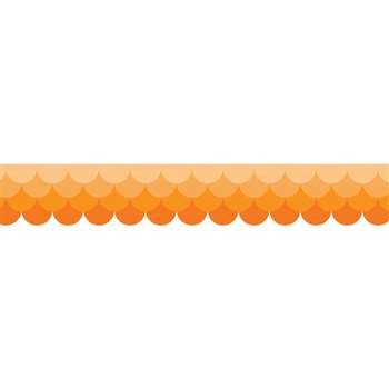 Ombre Orange Scallops Borders Paint, CTP0179