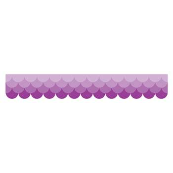 Ombre Purple Scallops Borders Paint, CTP0184