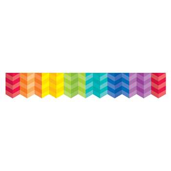 Painted Palette Multi Herringbone Border, CTP0187