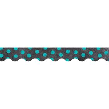 Dots On Chalkboard Turquoise Borders, CTP0216