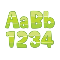 "Painted Palette Lime Green 4"" Designer Letters, CTP0283"