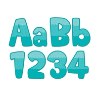 "Painted Palette Turquoise 4"" Designer Letters, CTP0284"