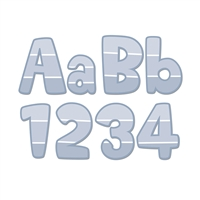 "Slate Gray Paint Chip 4"" Designer Letters - Paint, CTP0287"