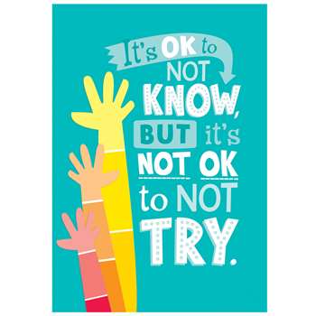 Its Okay Not To Know Inspire U Poster - Paint, CTP0311