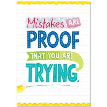 Mistakes Are Proof Inspire U Poster, CTP0315