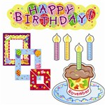 Mini Bulletin Board Set Birthdays By Creative Teaching Press