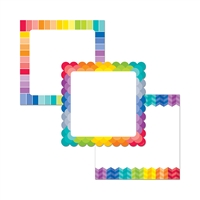 "Painted Palette Chart Cards 10"" Designer Cut Outs, CTP0652"