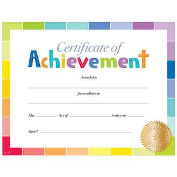 Painted Palette Certificate Of Achievement, CTP0673