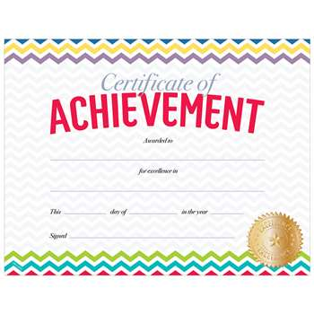 Chevron Certificate Of Achievement, CTP0674