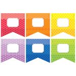"Rainbow Pennants 3"" Cut Outs Painted Palette, CTP0823"