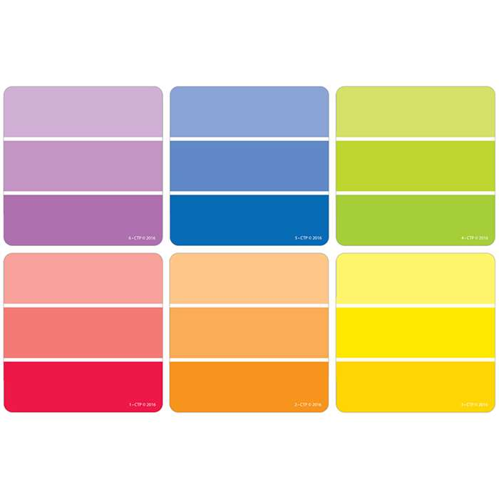 "Paint Chips 3"" Cut Outs Painted Palette, CTP0824"