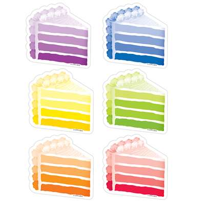 "Cake Slices 3"" Cut Outs Painted Palette, CTP0826"