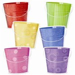 Buckets 6In Designer Cut Outs By Creative Teaching Press