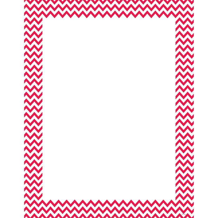 Poppy Red Chevron Chart, CTP0966