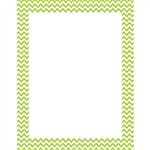 Lime Green Chevron Chart, CTP0968