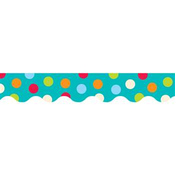 Dots On Turquoise Wavy Border By Creative Teaching Press