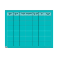 Turquoise Large Calendar Chart, CTP1056